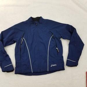 Asics Jacket S Windbreaker Blue Full Zip Vented Me